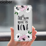ciciber Summer Flowers Paisley Mandala Rose Daisy Pattern Soft Case Coque Fundas Capa Cover for IPhone 7 6 6S 8 Plus 5S SE X