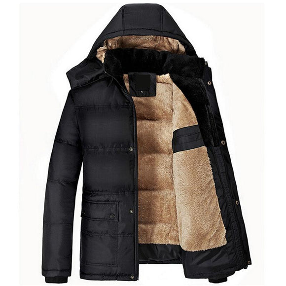 Brand New Winter Jacket Men Thick Warm Solid Cotton Parka Mens Winter Jackets And Coats Plus Size 5XL jaqueta masculino inverno