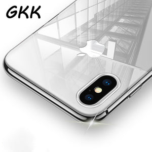 GKK Transparent TPU Case For iPhone X Ultra Thin Soft Silicon Cover For iPhone X Case Crystal Clear Silicon Phone Cases Capa