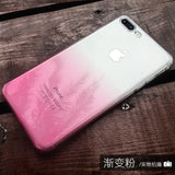 XBXCase Gradient Color TPU Case for iPhone 6 6S 7 Plus Transparent Soft Back Protect Cover for iPhone 8 8 Plus X Anti Slip