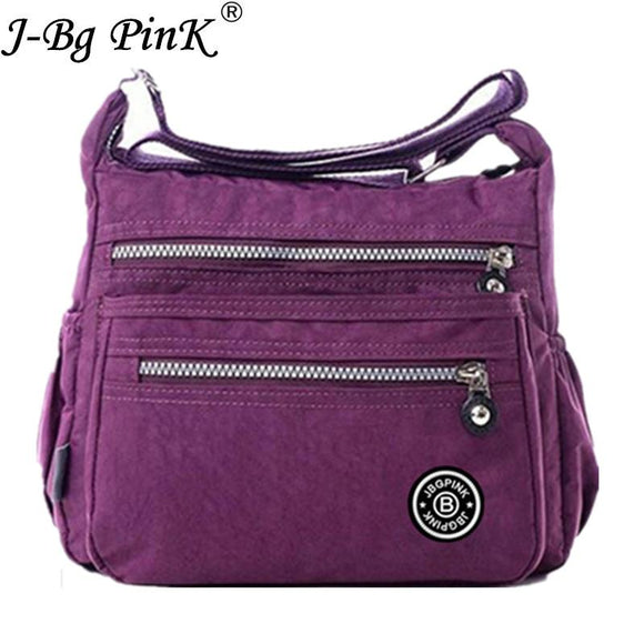 J-BG PinK Women Messenger Bags Nylon Canta Shoulder Bags Handbags Famous Brands Designer Crossbody Bags Female Bolsa sac a Main