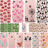ciciber Mickey&Minnie kiss Lips pineapple unicorn Flamingo cactus soft silicone cases cover for iphone 6 6S 7 8 plus 5S SE X