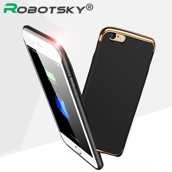 Charger Case For iphone 6 7 Plus Phone Cases Wireless Charge Cover 2300/3500mAh Portable Power Bank Pack Backup Battery
