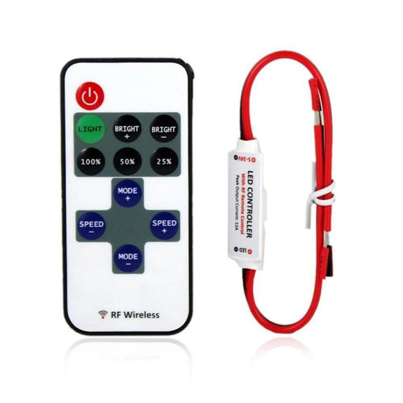 MUQGEW Mini LED Controller Dimmer + RF Wireless Remote Control for 5050 3528 LED Strip 2017 Newest High Quality High Efficiency