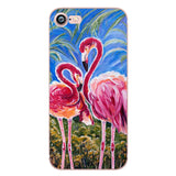 ciciber phone cases love Flamingos Clear soft silicon TPU fundas coque capa case cover For Apple iphone 7 6 6S 8 plus 5S SE X