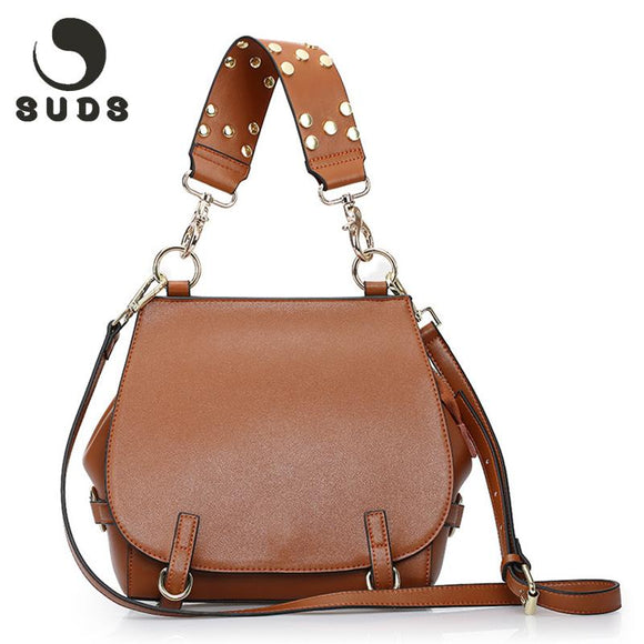 SUDS New Arrival Women Bag Genuine Leather Handbags Female 2017 Luxury Brand Women Messenger Bags Crossbody Real Leather Fashion