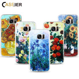CASEIER Phone Cases For Samsung Galaxy S6 S7 Edge S8 S8 Plus Note 8 Case Soft TPU 3D Relief Monet Painting Cover Silicone Shell