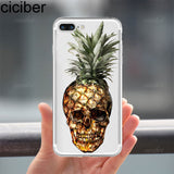 ciciber Summer Fruit Pineapple Watermelon Banana soft silicon phone cases cover For iphone 7 6 6S 8 plus 5S SE X Coque Fundas