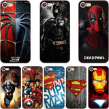 ciciber phone cases DC Batman Superman Deadpool Marvel Iron Man TPU soft silicone cover Case for iphone 6 6S 7 8 plus 5S SE X