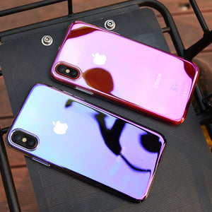 FLOVEME For iPhone X 7 6 6S Plus 5 5S Case Blue Light Cases For Samsung Galaxy Note 8 S8 Plus S7 S6 Edge For Huawei P9 P10 Cover