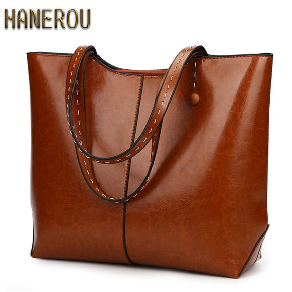 Autumn New PU Leather Women Bag Female Shoulder Bags 2017 New Vintage Designer Handbags High Quality Famous Brands Tote Bag