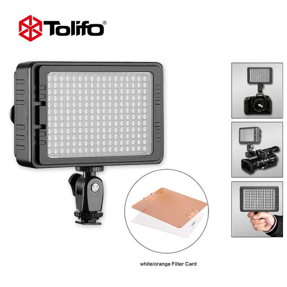 Tolifo PT-204S Portable Dimmable Daylight LED Camera Video Light for Sony Canon Nikon Pentax Olympus Panasonic and other DSLR