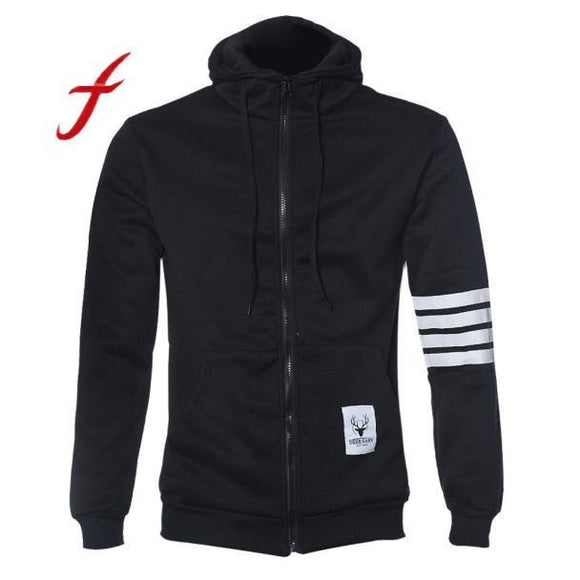 Winter Jacket Men Hoodie Fashion Brand Suit High Quality Sweatshirt Casual Zipper Hooded Jackets Male Plus Size M-3XL