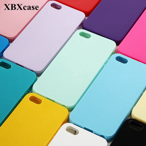 XBXCase Cute Solid Candy Color TPU Soft Case for iPhone 6 6S 5 5S SE Silicone Glossy Back Protect Cover for iPhone 7 8 Plus X
