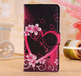 Flower Leather Wallet Phone Case Fo Oneplus One Two 1 2 Case cover For iPhone 5S SE 6 6S 7 Plus X 8 Cover Stand Bag Card Holder