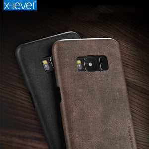 X-Level For Samsung S8 Case Vintage Cowboy PU Leather Case For Samsung Galaxy S8 S8 Plus Phone Back Cover Case for galaxy s 8