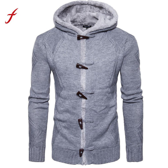 Men Autumn Winter Solid Cardigan Coat Knitting Sweater Coats sweater jackets men christmas pull homme erkek kazak