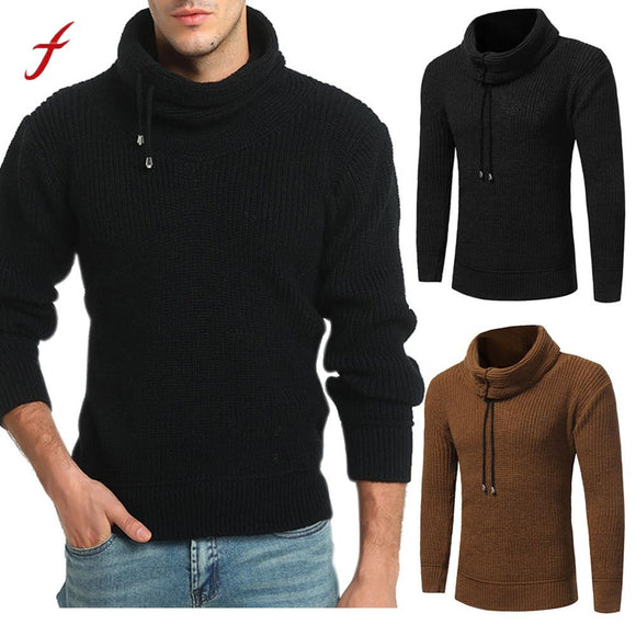 Men's Sweater Autumn Winter Pullover Loose Jumper Knitwear Outwear Blouse casual pullover autumn Male Tops Warm Knitting Coats