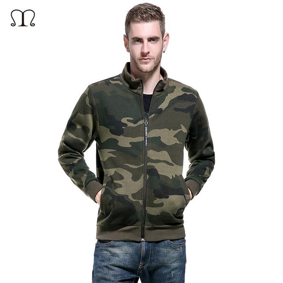 2017 New Mens Hoodies and Sweatshirts Zipper Hooded Camouflage Sweatshirts Male Clothing Fashion Military Hoody For Men US Size
