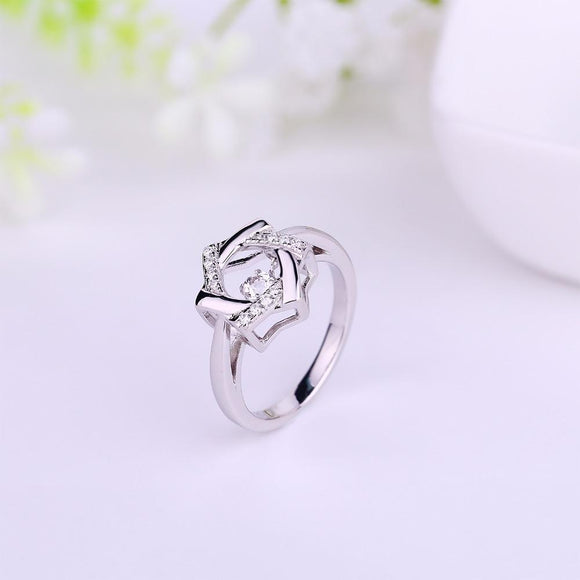 JO WISDOM Women's Rings Decorations for women Party Gift Rings Silver 925 Jewelry with Dancing Stone
