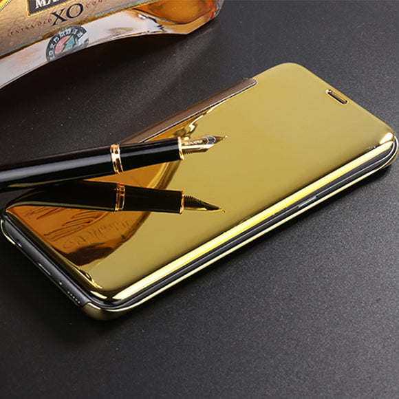 ZUANDUN Luxury Mirror Clear View Smart Flip Case For Samsung Galaxy S8 S7 Edge S6 Edge Leather Cover For Samsung S8 Phone Case