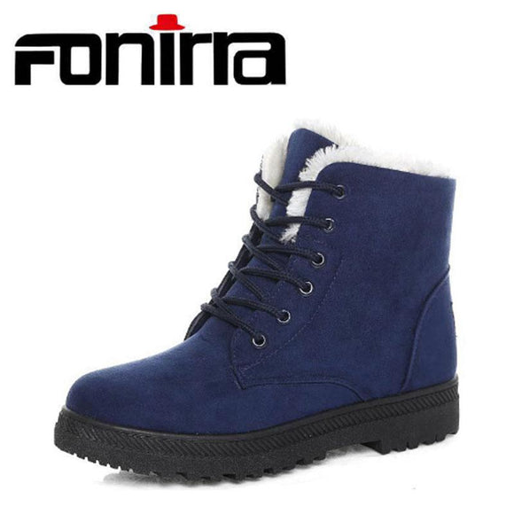FONIRRA 2017 Women Snow Boots new arrival women winter boots warm snow boots fashion heels ankle boots for women shoes 225