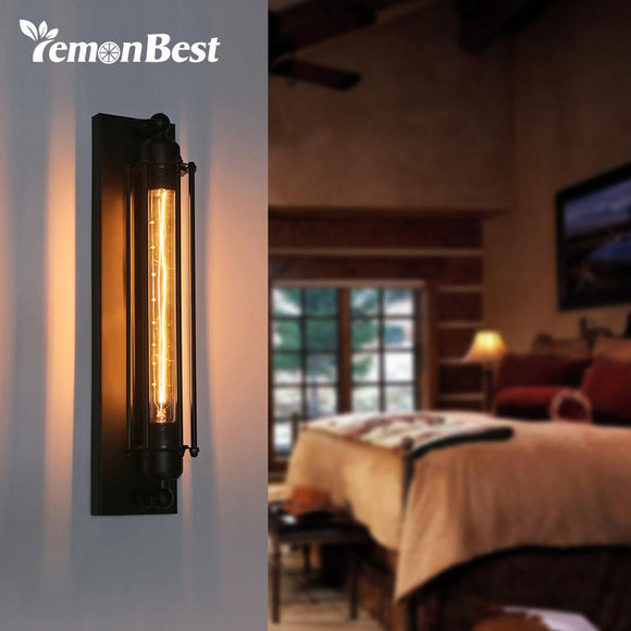 220V American Industrial Wall Light Edison Light Loft Vintage Wall Lamps 40W E27 Bedside Wall Fixtures Home Decoration Lighting