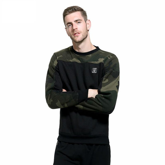 Russia Size Side Buckle Ribbon Camouflage Hoodies Men Hip Hop Casual Camo Pullover Hooded Sweatshirts Fashion Male Streetwear