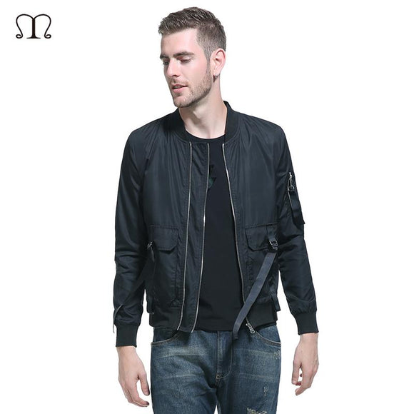 US Plus Size Design Hip Hop Jacket Men 2017 Autumn Casual Slim Fit Men Jacket Sportswear Windbreaker Bomber Jacket Men Overcoat