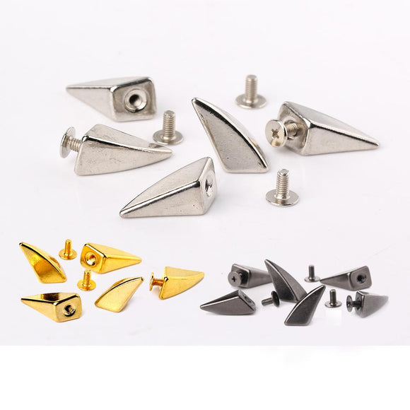 20pcs Dragon Claw Spike Studs Metal ScrewBack Leathercraft Shark Findings Suitable For Leather Bracelets Dog collars Bags