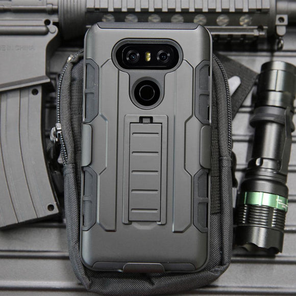 Heavy Duty Shockproof Hybrid Rugged Case For LG G6 Belt Clip Holster Cover Tough Anti-knock Hard Shell Cover For LG G6/G6 Plus @