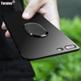 Toraise Case For iPhone 7 Plus 6S Plus Car Holder Stand Magnetic Suction Bracket Finger Ring TPU Case For iPhone 8 Plus 6 Plus
