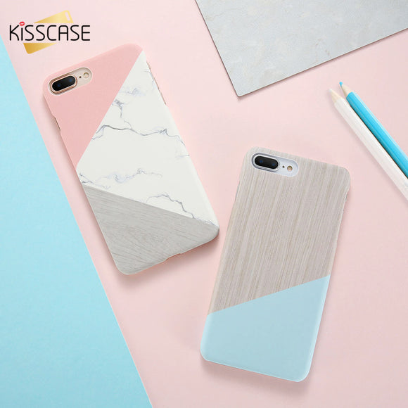 KISSCASE For iPhone 6 7 8 Case Coque Marble Patterned Phone Case for iPhone 5s SE 6s Plus 7 8 Plus Hard Back Cover For iPhone X