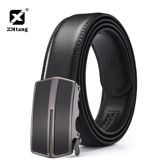 XHTANG Fashion Genuine Leather Belt Men Elegant 2017 Brand Automatic Buckle Belt Male Gift Business Belts for Jeans Waistband