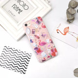 Fashion Gradient Flowers Grass Case For iphone X Case 3D Relief Colorful painting Soft TPU Back For iphone 6S 6 7 8 PLus Fundas