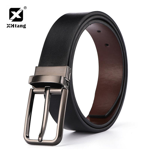 XHtang Elegant Alloy Pin Buckle Belt Top Leather Fashion Casual Mans Belt 2017 Male Brand Gift Hot Design belt for jeans newest