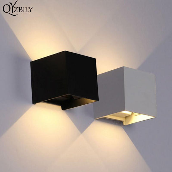LED Wall Light Outdoor Waterproof Wall Lamp Luminaire Abajur Bathroom Light Home Lighting Sconce Modern Aluminum AC110V-260V