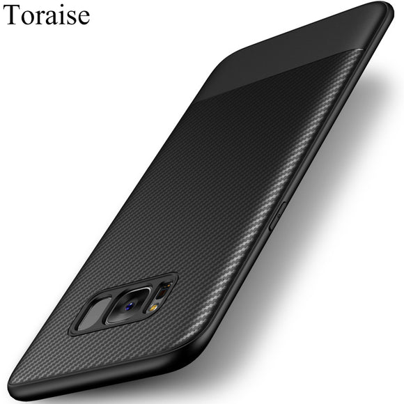 Toraise Soft TPU Case For Samsung galaxy S8 Case Luxury Carbon Fiber Ultra Thin Silicone Case for Samsung S8 S8 Plus S 8 Phone