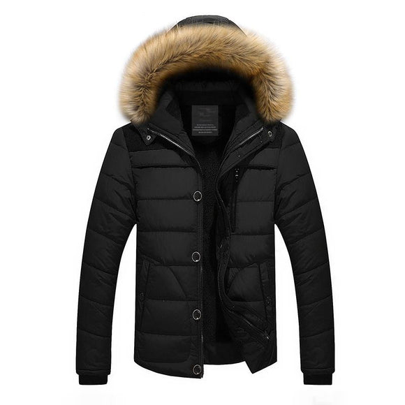2016 New Men Winter Jackets And Coats with fur Plus Size M-4XL 5XL 6XL Thick warm Hooded Jacket