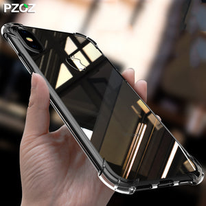 PZOZ for apple iphone x 10 case bumper ultra thin housing 360 shockproof accessories silicon casing Cover for iphonex slim case