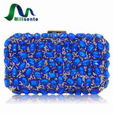 Milisente Women Evening Bag Gold Clutches Bags Blue Party Silver Wedding Party Purple Clutch Purses
