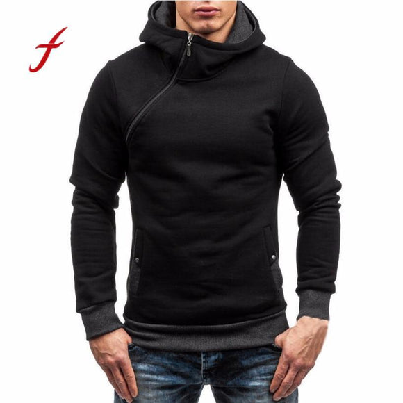 2017 Fashion Men's Autumn Winter Hoodies Male Zipper Hooded Jacket Long Sleeve Sportswear Moleton Masculino Sweatshirt Outwear