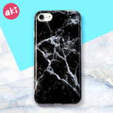 AKI Fashion Marble Phone Case for iPhone 6 6S Plus Case Classic Black White Pink Soft Cover for iPhone 7 8 Plus Cases Shell