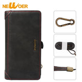 Newoer Wallet Bag Case For Samsung Galaxy S7 PU Leather Pouch For Samsung Galaxy S7 Multi Card Pocket Case