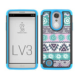 Dual Layer Tribal Print TPU Hard Armor Case Heavy Duty Shockproof Cover For LG Aristo MS210/LV3/K8 2017/Phoenix 3/Fortune @