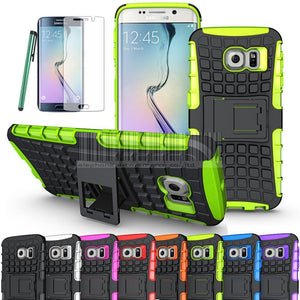 Shockproof Rugged Hybrid Armor Case Cover+Film For Samsung Galaxy S6 Edge G925