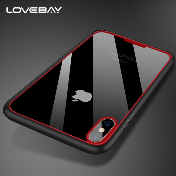 Lovebay For Apple iPhone X Clear Armor Phone Case Fashion Hard PC And TPU Hybird Shockproof Phone Case For iPhone X Cover Bags