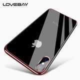 Lovebay Phone Case For iPhone X For iPhone 7 8 Plus Luxury Electroplated Transparent Soft TPU For iPhone 6s Plus Phone Case Capa