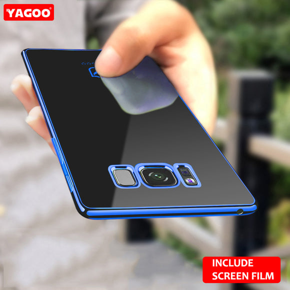 For Samsung S8 case for Samsung Galaxy S8 plus case back cover soft TPU protection coque plain red blue for galaxy s8+ Yagoo