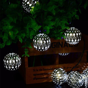 MUQGEW MUQGEW Unique Design 2017 Newest 20LED Morocco Hollow String Light Outdoor Xmas Party Decor Lamp Promotion